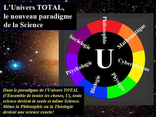 Toute science est une version de la Science de l'Univers TOTAL