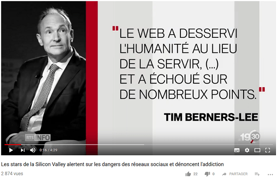 Tim Berners-Lee ne likent plus le web