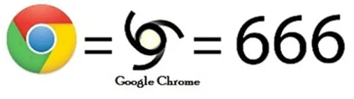 Logo 666 de Google Chrome